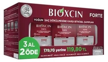 Bioxcin BIOXCIN Forte Şampuan 300 ml 3 AL 2 ÖDE Renksiz